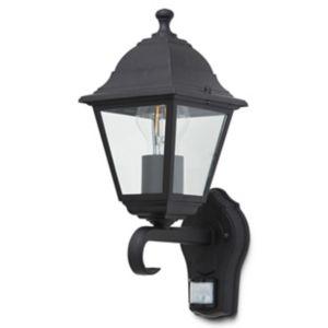 Blooma Varennes Matt Black Halogen Pir Motion Sensor Outdoor Lantern Wall Light 60W