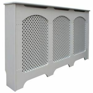 Colours Cambridge Large White Traditional Radiator Cover