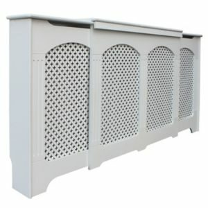 Colours Cambridge Medium - Large White Traditional Adjustable Radiator Cover