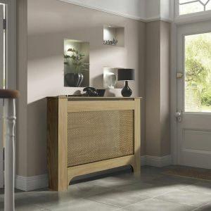 Colours Mayfair Medium Oak Veneer Radiator Cover
