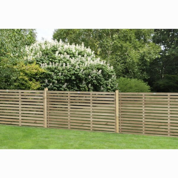 Contemporary Single Slated 3ft Fence Panel - 1.8mx0.9m - 5 Pack