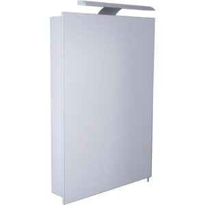Croydex Madison Single Door Illuminated Aluminium Bathroom Cabinet
