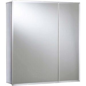 Croydex Newton Bi-view Aluminium Bathroom Cabinet