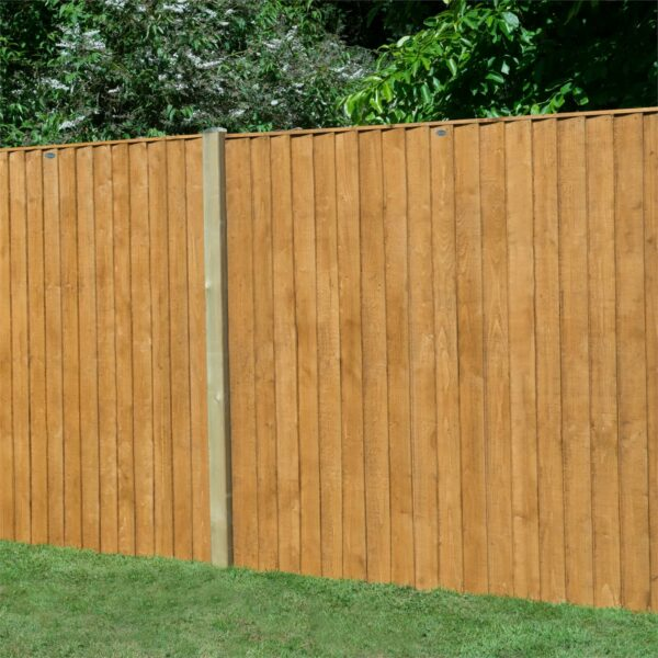 Forest Featherdge Dip Treated Fence Panel - 5ft - Pack of 4