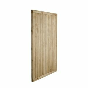 Forest Garden Noise Reduction Wood Slatted Gate