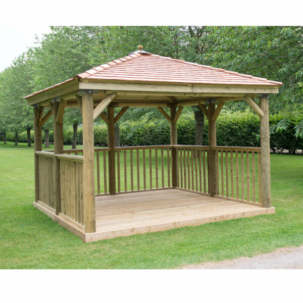 Forest (Installation Included) Cedar Roof Square Gazebo - 3.5m