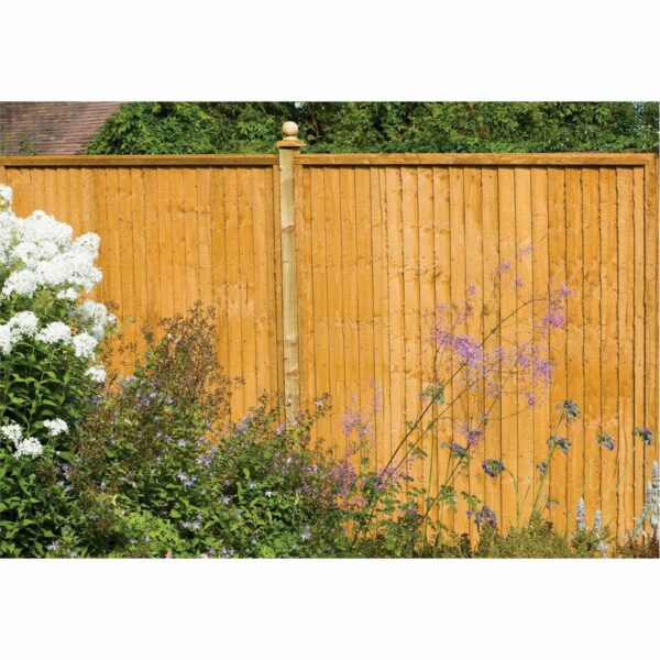 Forest Larchlap Closeboard 1.8m Fence Panel - Pack of 3