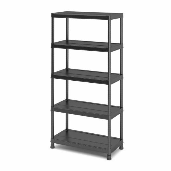 Form Links 5 Shelf Polypropylene Shelving Unit (H)1820mm (W)900mm Black