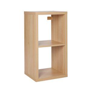 Form Mixxit Oak Effect 2 2 Shelf Cube Shelving Unit (H)390mm (W)740mm (D)330mm
