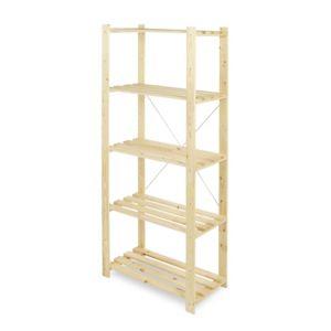 Form Symbios 5 Shelf Wood Shelving Unit (H)1700mm (W)750mm Natural