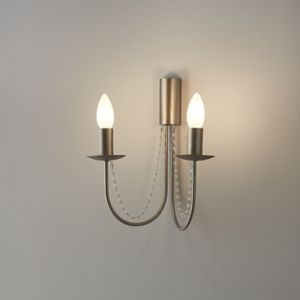 GoodHome Suhel Chrome Effect Double Wall Light