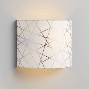 Inlight Carme Foil Printed Silver & White Wired Wall Light