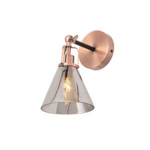 Inlight Dafyd Cone Antique Copper & Smoke Wall Light