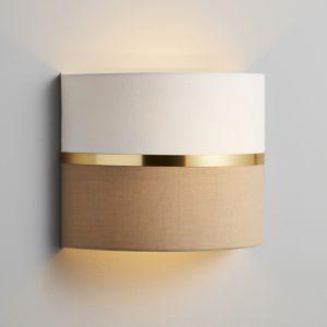 Inlight Isonoe Metallic Band Ivory & Mocha Wired Wall Light