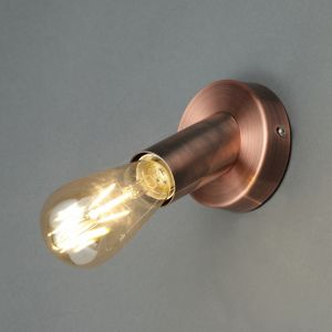 Inlight Lapetus Industrial Copper Effect Wall Light