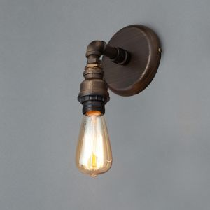 Inlight Parel Pipe Bronze Effect Wall Light