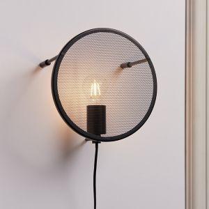 Mesh Black Plug-In Wall Light