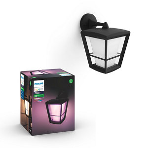 Philips Hue Non-adjustable Black & white Mains-powered LED Outdoor Wall light 1150lm (Dia)19.4cm