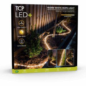 TCP Garden Rope Light IP65 Warm White 5M Plastic - wilko