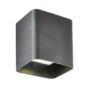 Zinc Pica Non-Adjustable Matt Black Mains-Powered Led Outdoor Up Down Wall Light 620Lm (Dia)11Cm