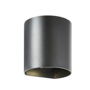 Zinc Pico Non-Adjustable Matt Black Mains-Powered Led Outdoor Curved Wall Light 620Lm (Dia)11Cm