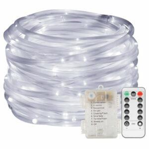 10 Meters LED Tube Light Light, LED Indoor & Outdoor Light Tubes for Garden, Christmas, Wedding, Party, Living Room, LED Pipe Strip IP65, Warm White