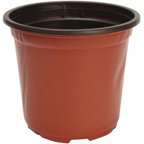 100pcs Flower Pot Round Plastic Plants Flower Garden Balcony House 11 * 8.5 * 9.5cm Mohoo