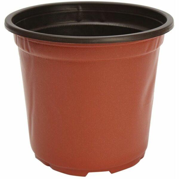 100pcs Round Plastic Flower Pot Garden Plants Planter Balcony Home 11 * 8.5 * 9.5cm WASHED