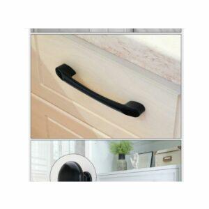 10pcs t Bar Cabinet Knobs Black Drawer Knobs Pull Handles Handle for Furniture Hardware Kitchen and Bathroom Cabinet