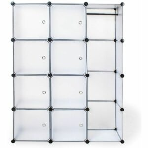 12 Cube storage Unit transparent - cube storage, cube shelves, cube unit - white
