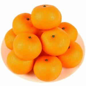 12 PCS Artificial Lifelike Simulation Oranges Fake Fruit Home Kitchen Cabinet DecorationVisit the HAKSEN Store