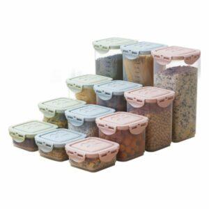 12-Parts Kitchen Storage Box Refrigerator Fresh Storage Box Lunch Box Food Storage Container 4 Sizes
