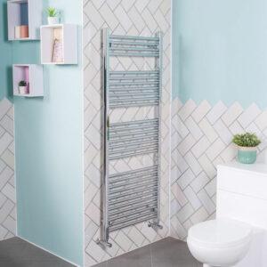 1500x600 Straight Central Heating Towel Rail Bathroom Heated Rad Radiator Chrome
