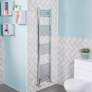 1600x395 Straight Central Heating Towel Rail Bathroom Heated Rad Radiator Chrome