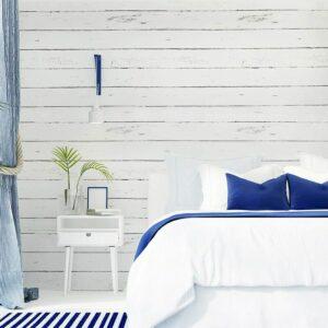 17.71'x393.7' Peel and Stick Wallpaper Black and White Wood Grain Wall Paper Self-Adhesive Shiplap Wallpaper Removable Backsplash Wallpaper