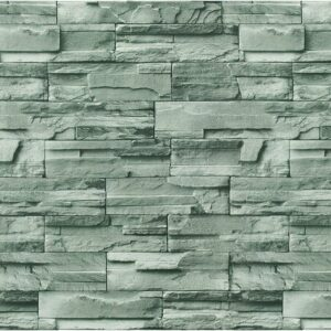17.7'x118' Stone Brick Wallpaper Stick On Self-Adhesive Peel and Stick Backsplash Wall Panel Removable Home Decor