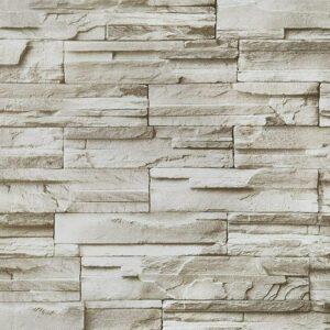 17.7'x197''Brick Stone Wallpaper Self-Adhesion Peel and Stick Wallpaper Waterproof Removable Wallpaper Kitchen Backsplash Wall Paper Roll Contact
