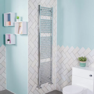 1800x450 Straight Central Heating Towel Rail Bathroom Heated Rad Radiator Chrome