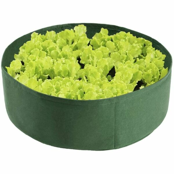 2 Pack 100 Gallon Grow Bags, Heavy Duty Planting Bags Garden Containers, Felt Fabric Pots for Plant Growing Indoor Outdoor (Green)