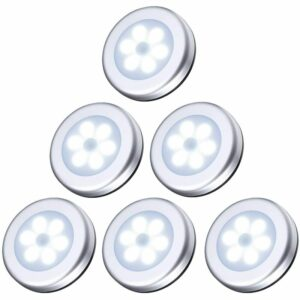 (6 Pack) Motion Sensor Light, Closet Light, LED Sensor Lights, Battery Powered (Not Included), for Stairs, Cabinets, Powered, Ease of Installation