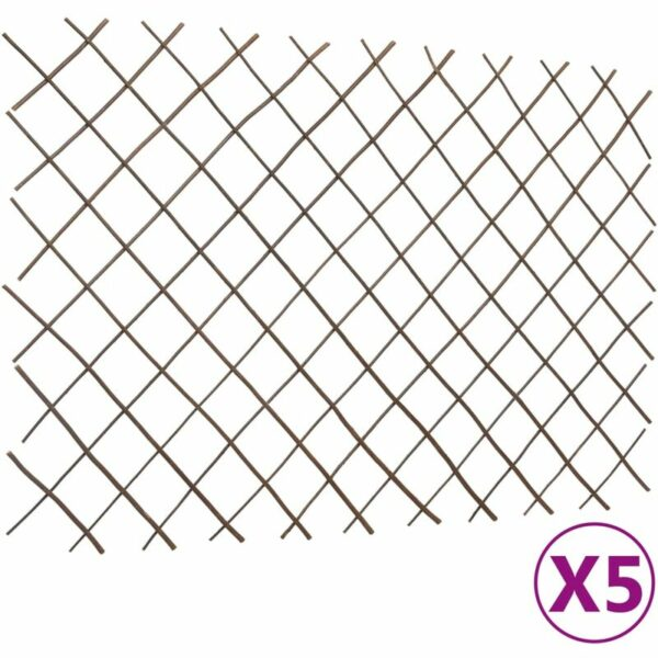 Betterlifegb - Willow Trellis Fences 5 pcs 180x120 cm6859-Serial number