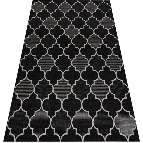 CARPET SIZAL FLOORLUX 20607 Moroccan trellis black / silver Black 120x170 cm