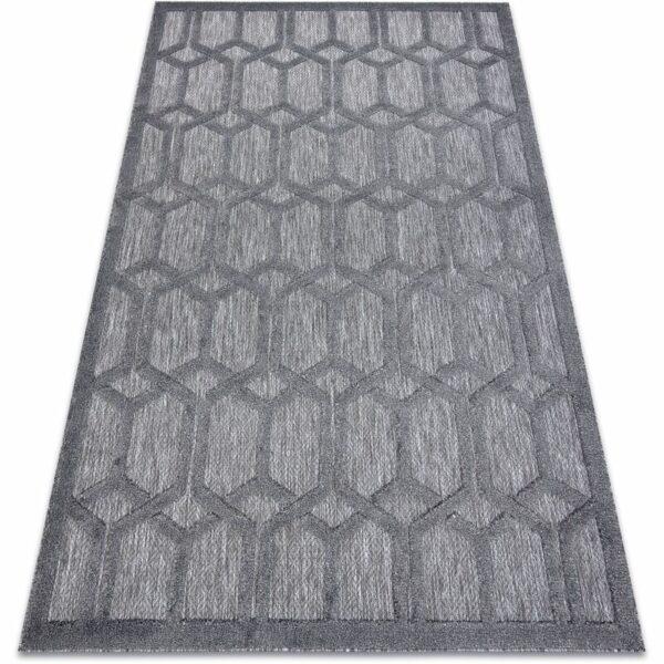 Carpet SANTO SISAL 58385 trellis anthracite Shades of grey and silver 120x170 cm