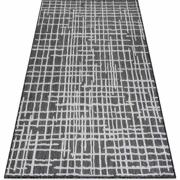 Carpet SISAL SION Trellis, Lines 22144 Flat woven black / ecru Black 200x290 cm