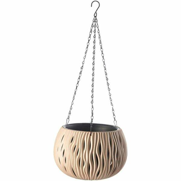 Hanging Planter Flower Pots Indoor Outdoor Balcony Patio Hanging Basket Home Decor - Coffee