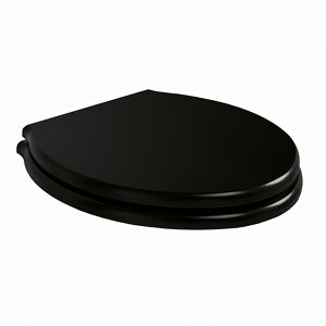 Ideal Standard Waverley Black Top fix Standard close Toilet seat