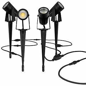Luceco LED Garden Lighting Spike Kit - Pack of 4