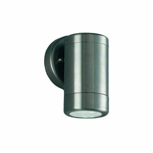Nocturn 1 Light Bulb Stainless Steel Garden Wall Light