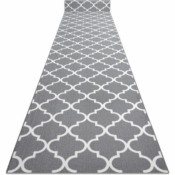 Runner anti-slip TRELLIS 90 cm grey 30352 Shades of grey and silver 90x680 cm