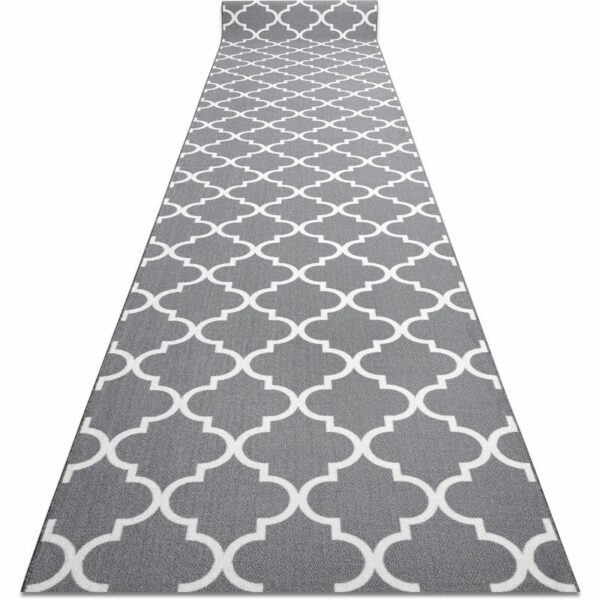 Runner anti-slip TRELLIS grey 30352 67cm Shades of grey and silver 67x840 cm